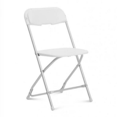 Rental store for CHAIR, WHITE W ALUMINUM FRAME in Baton Rouge LA