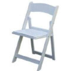 Rental store for CHAIR, WHITE WITH PAD in Baton Rouge LA