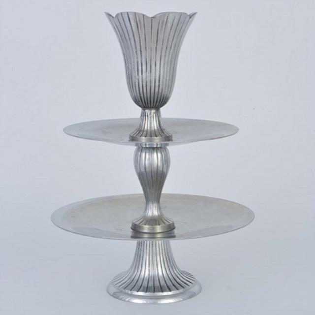 Where to rent STAND, 2-TIER SILVER W VASE in Baton Rouge Louisiana, Gonzales, Zachary, Denham Springs, Port Allen, Walker, Prairieville, Plaquemine, Baker, Central, St. Francisville, New Roads LA