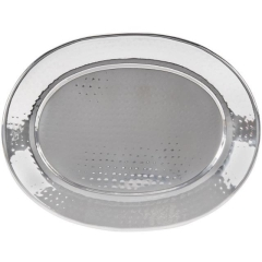 Rental store for TRAY, STAINLESS HAMMERED OVAL in Baton Rouge LA