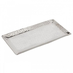 Rental store for TRAY, STAINLESS HAMMERED RECT in Baton Rouge LA