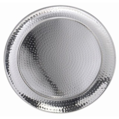 Rental store for TRAY, STAINLESS HAMMERED ROUND in Baton Rouge LA