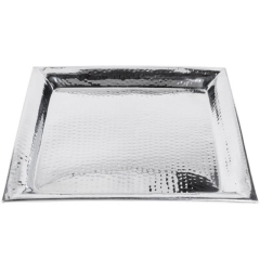 Rental store for TRAY, STAINLESS HAMMERED SQUARE in Baton Rouge LA