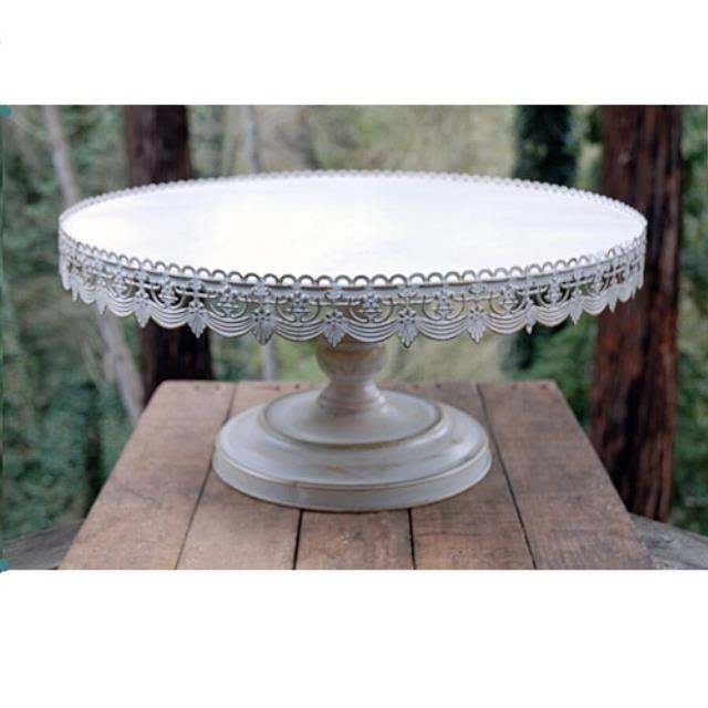 Where to rent CAKE STAND, 22  WHITE METAL in Baton Rouge Louisiana, Gonzales, Zachary, Denham Springs, Port Allen, Walker, Prairieville, Plaquemine, Baker, Central, St. Francisville, New Roads LA
