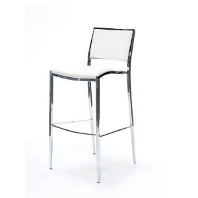 Where to rent STOOL, BAR CHROME W  WHITE SEAT in Baton Rouge Louisiana, Gonzales, Zachary, Denham Springs, Port Allen, Walker, Prairieville, Plaquemine, Baker, Central, St. Francisville, New Roads LA